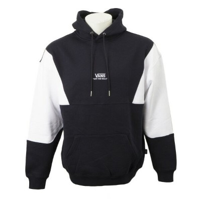 【VANSウェア】Color Block Pull Over Hoodie ヴァンズ フーディー VA19FW-MC02 NAVY