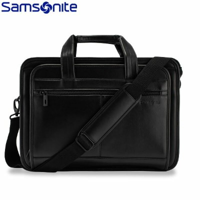 【P5倍 1/24 23:59迄】【あす楽】 【1年保証】サムソナイト Leather Business レザービジネス Expandable Leather Business Case...