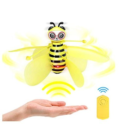 Drone Gesture-Sensing Little Bee Aircraft Suspended Children Toys Flying Toys Gift for Kids,...