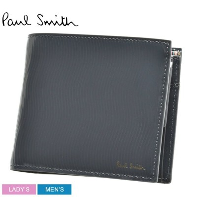 【SALE★最大1000円OFFクーポン】 送料無料 PAUL SMITH ポール スミス 財布 グレー BE COIN WALLET SLICED 4833 A40516 メンズ レディース 本革...