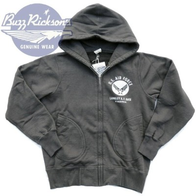 BUZZ RICKSON'S バズリクソンズ US AIR FORCE FULL ZIP PARKA スウェットパーカー BR65599_119)BLK Made in JAPAN