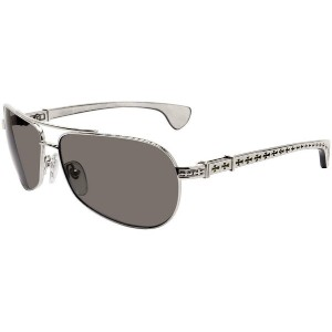CHROME HEARTS THE BEAST I クロムハーツ サングラス Shiny Silver - White Ebony Wood