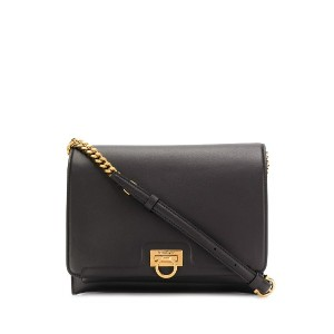 Salvatore Ferragamo Trifolio flap shoulder bag - ブラック