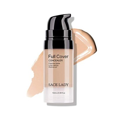SACE LADY Full Cover Liquid Concealer Lightweight Smooth Matte Finish Corrector For Dark Circles...