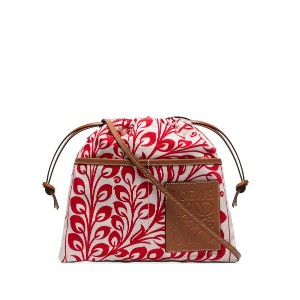 Loewe Multicoloured printed canvas pouch bag - レッド