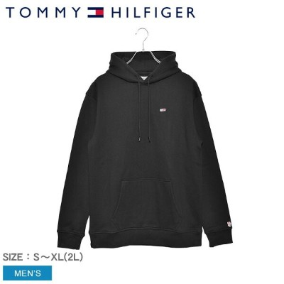 TOMMY HILFIGER トミーヒルフィガー パーカー ブラック トミー クラシック リラックスド フィット フーディ TOMMY CLASSIC RELAXED FIT HOODY...