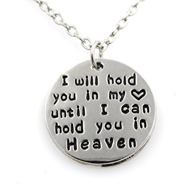 Memorial – I will hold you in my heart until I can hold you in heaven – Angel – ネックレス – 損失Love –...
