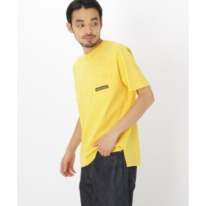 【BASE CONTROL(ベースコントロール)】 バック サークル ロゴ 半袖 Tシャツ OUTLET > BASE CONTROL > トップス > Tシャツ イエロー
