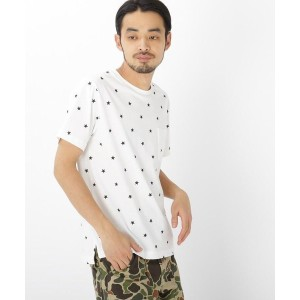 【BASE CONTROL(ベースコントロール)】 ohcool スター総柄 半袖 Tシャツ OUTLET > BASE CONTROL > トップス > Tシャツ アイボリー