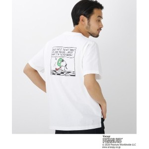 【BASE CONTROL(ベースコントロール)】 ピーナッツ PEANUTS 別注 スヌーピー バックプリント 半袖 Tシャツ OUTLET > BASE CONTROL > トップス >...