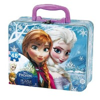 Disney アナと雪の女王 48ピースパズル&ボックスセット アナ&エルザ Frozen Puzzle in Tin with Handle (48-Piece)・お取寄