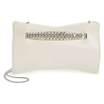 ジミーチュウ レディース クラッチバッグ バッグ Jimmy Choo Nappa Leather Clutch with Crystal Bracelet Handle Latte