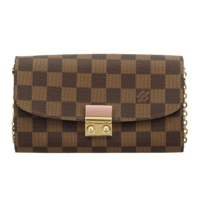 LOUIS VUITTON ルイヴィトン 長財布 ダミエ ポルトフォイユ・クロワゼット チェーン N61273 【newit0】