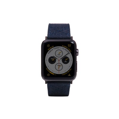 【新品】ROA Apple Watch バンド 42mm/44mm用 Wax Canvas ネイビー SD16044AW