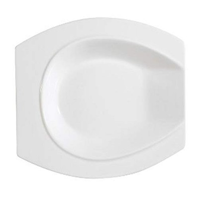 CAC中国アクセサリー新しいボーンホワイト磁器Horse Shoe Platter 10-Inch by 6-Inch by 1-1/4-Inch ホワイト HSD-10