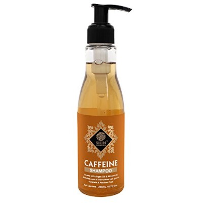 Skin Elements Caffeine Shampoo Infused with Argan and Almond Oil for Hair Fall Control, Golden, 200...