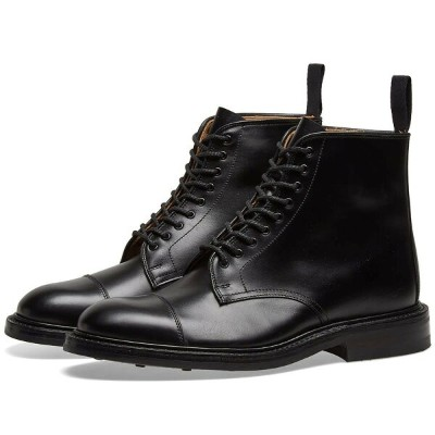TRICKERS キャップ 帽子 END. TRICKER'S 【 X TOE CAP BOOT BLACK CALF LEATHER 】 メンズ ブーツ 送料無料