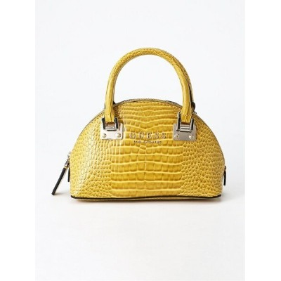 【SALE/50%OFF】GUESS (W)CLEO MINI DOME SATCHEL ゲス バッグ ショルダーバッグ イエロー レッド【送料無料】