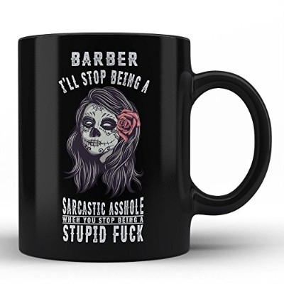 Sarcasm Mug for Barberブラックコーヒーマグby Hom Hilarious引用Illustration Perfect誕生日ギフトデザインno : -db11595 a23104