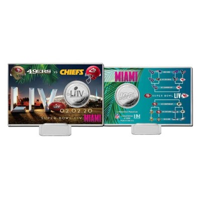 NFL 第54回 スーパーボウル Dueling Flip Coin Card Chiefs vs 49ers コイン The Highland Mint シルバー