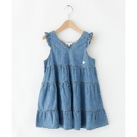 【3can4on(Kids)(サンカンシオン(キッズ))】 【90-140cm】ライトデニムティアードワンピース OUTLET > 3can4on(Kids) > ワンピース > マキシ...