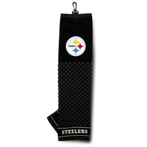 NFL Pittsburgh Steelers Embroidered Golf Towel【ゴルフ その他のアクセサリー>タオル】