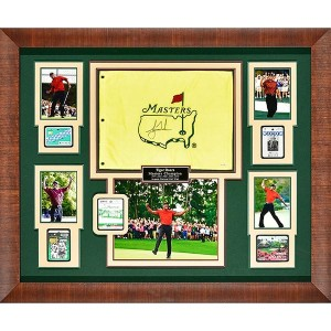 Millionaire Gallery Tiger Woods - 5 time Masters Champion-Signed Flag【ゴルフ その他のアクセサリー>ギャラリー】