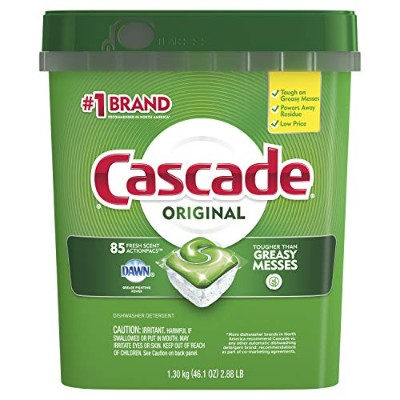 Cascade Complete All-in-1 ActionPacs Dishwasher Detergent, Fresh Scent 85 Pacs カスケード コンプリート 85パック...