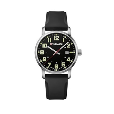 ウェンガー スイス メンズ 腕時計 【送料無料】Wenger Men's Sport Stainless Steel Swiss-Quartz Watch with Silicone Strap,...