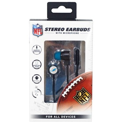 NFL ドルフィンズ Stereo Earbuds with Microphone マイク イヤフォン Mizco