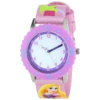 Disney ディズニー 塔の上のラプンツェル キッズ腕時計 Kids' W000427 Rapunzel Stainless Steel Time Teacher Purple Bezel...