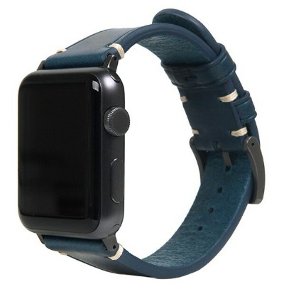 SLG Design Apple Watch 38mm/40mm用バンド Italian Buttero Leather ブルー SD18384AW [SD18384AW]