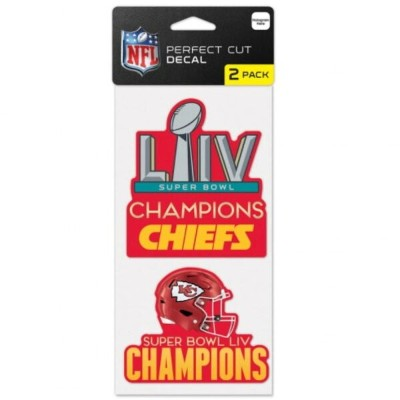 NFL 第54回 スーパーボウル優勝記念 4 x 8 2-Pack Perfect Cut Decal デカールステッカー ウィンクラフト/WinCraft