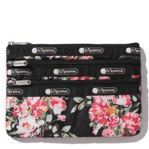 LeSportsac 3ZIP COSMETIC/ガーデンローズ
