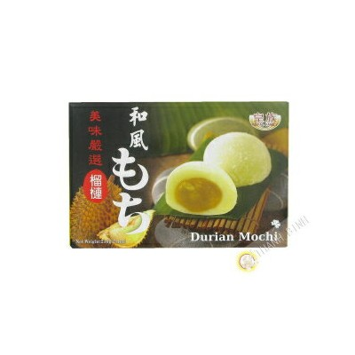 和風餅(ドリアン)-7.4oz(1パック) Won Kok Japanese Style Mochi (Durian) - 7.4oz (Pack of 1)