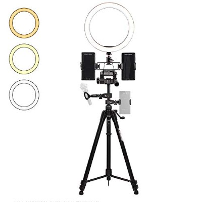 Mini Camera Ring Light for Video//Photography ZTCWS Selfie 26cm Ring Light with Tripod and Mobile Phone Stand for Live//Makeup