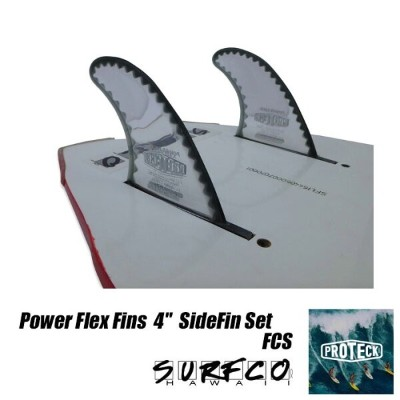 "PROTECK FINPOWERFLEX FINS 4""SIDEFIN SET FCSサーフィン トライフィン ショートボード付け具 フィン"