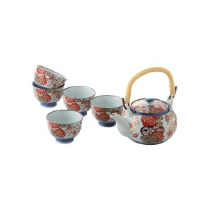 【50%OFF】錦平安桜 土瓶茶器揃 5客セット
