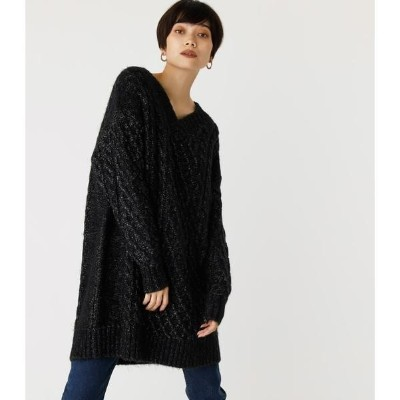 MELANGE CABLE KNIT/アズールバイマウジー