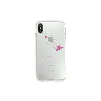DS10382I8 DPARKS iPhone XS/X用 ソフトクリアケース(キューピッド)