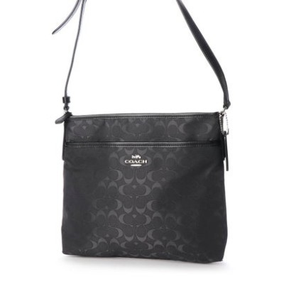 コーチ COACH SHOULDER BAG (SILVER/BLACK)
