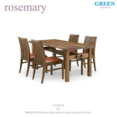 36%OFF [ダイニング5点セット] GREEN home style ROSE MARY DINING TABLE 150 + SIDE CHAIR C (グリーン ホームスタイル ローズマリー...