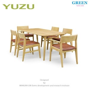 41%OFF [7点] GREEN home style YUZU DINING TABLE B180 + ARM CHAIR F + SIDE CHAIR F (グリーン ホームスタイル ユズ...