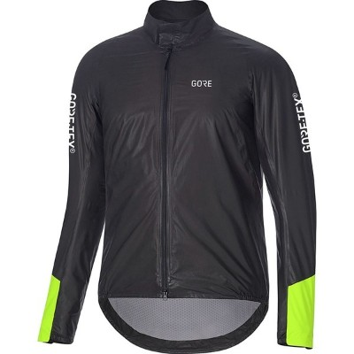 ゴアウェア メンズ サイクリング スポーツ C5 Gore-Tex Shakedry 1985 Insulated Viz Jacket - Men's Black/Neon Yellow