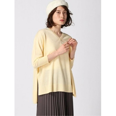【SALE/65%OFF】apart by lowrys 14GRP/VネックスリットPO アパートバイローリーズ カットソー カットソーその他 イエロー グリーン グレー ブラック