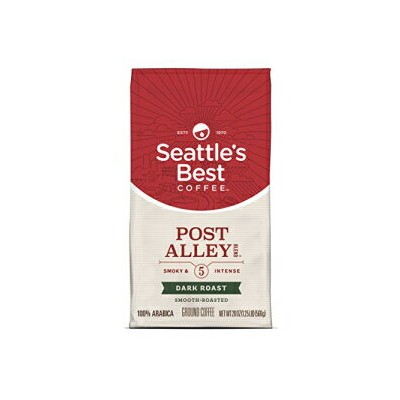 (2SET) Seattle's Best Coffee Post Alley Blend (Previously Signature Blend No. 5) Dark Roast Ground Coffee, 20-Ounce Bag