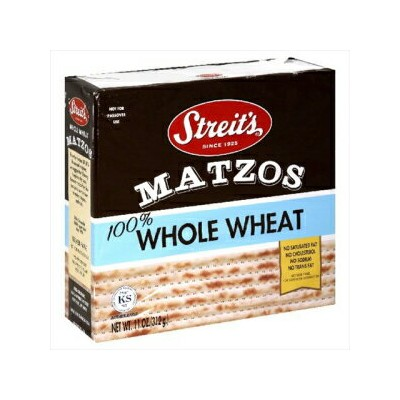 Streit's Matzos Whole Wheat, 11 Ounce (Pack of 12)