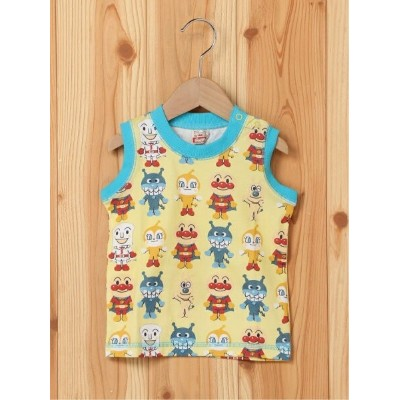 【SALE/50%OFF】ANPANMAN KIDS COLLECTION (K)アート総柄タンクトップ アンパンマンキッズコレクション カットソー キッズカットソー イエロー ホワイト