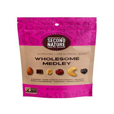 Second Nature Wholesome Medley Trail Mix - Healthy Nuts Snack Blend, Gluten Free - 5 oz Bag (Pack...