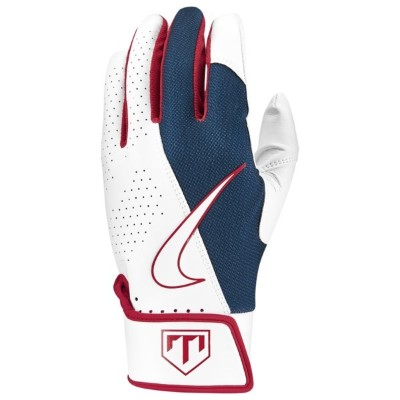 ナイキ メンズ 野球 スポーツ Trout Edge 2.0 Batting Glove White/Game Royal/University Red/White